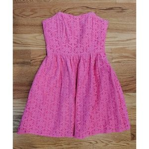 Lilly Pulitzer Lace Eyelet Strapless Pink Dress